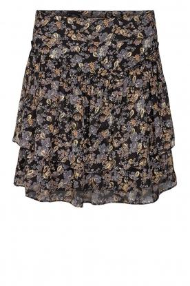 Sofie Schnoor |  Floral skirt Lara | black