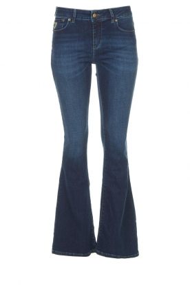Lois Jeans |  L34 High waist flared jeans Raval | dark blue