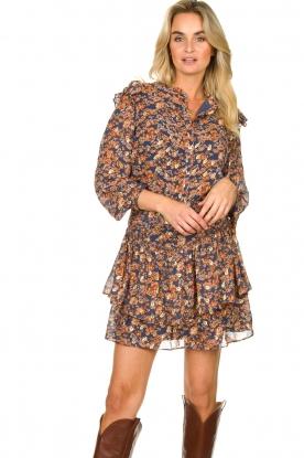Sofie Schnoor |  Floral skirt Lara | blue