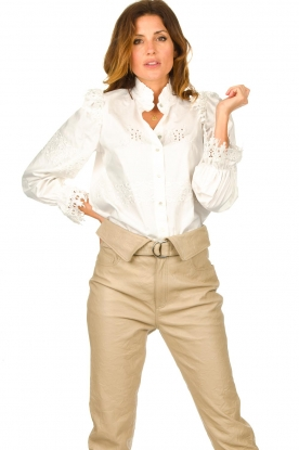 Sofie Schnoor |  Broderie blouse Feliciti | white