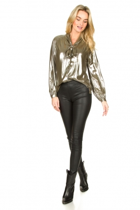 Look Metallic blouse Munda