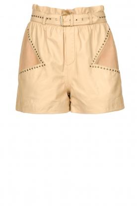 Ibana |  Leather short Sachi | beige