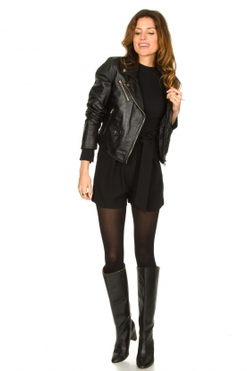 Look Croc print leather jacket Bella