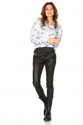 Ibana |  Leather pants Colette | black