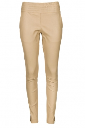 Ibana | Leather pants Colette | beige