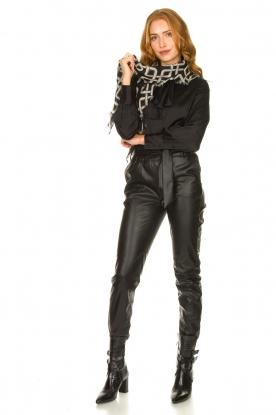 Dante 6 | Faux leather broek Duncan | zwart
