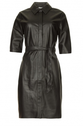Dante 6 |  Faux leather dress Baroon | black