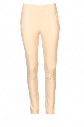 Dante 6 |  Stretch leather leggings Lebon | natural