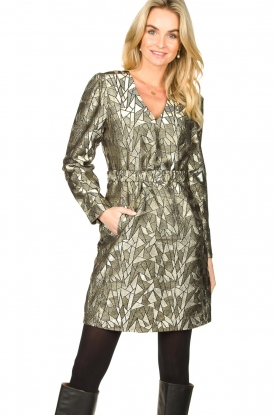 Dante 6 |  Jacquard dress Oryn | gold