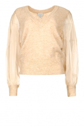 Dante 6 | Sweater with see-through sleeves Joelle | natural