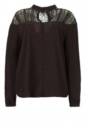 Dante 6 | Blouse with cutwork embroidery Camdyn black