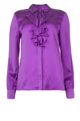 Dante 6 |  Blouse with ruffles Sylvian | purple