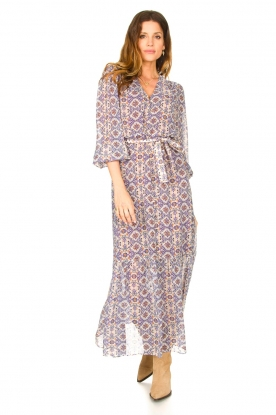 Dante 6 |  Printed maxi dress Florence | multi