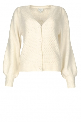 Dante 6 | Knitted cardigan with puff sleeves Fox | natural