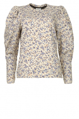 Dante 6 |  Floral cotton sweater Cloud | blue