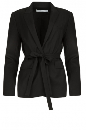 IRO |  Blazer with tie belt Better | black
