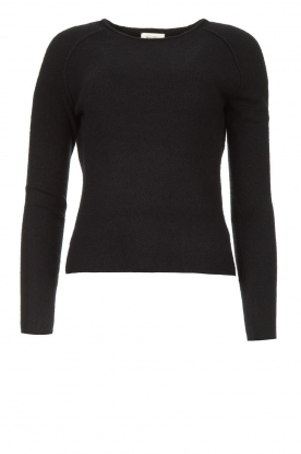 American Vintage | Knitted slim fit sweater Damsville | black