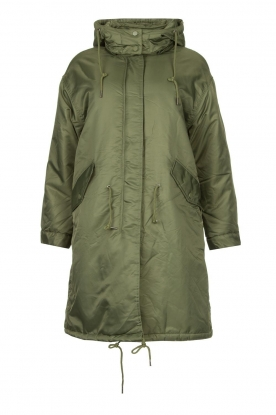American Vintage | Oversized parka with teddy lining Akocity | green