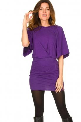 IRO    Linen dress Livy   purple