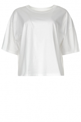 ba&sh | Oversized cotton T-shirt Amor | white