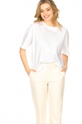 ba&sh |  Oversized cotton T-shirt Amor | white