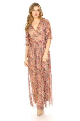 ba&sh |  Silk maxi dress with lurex Athena