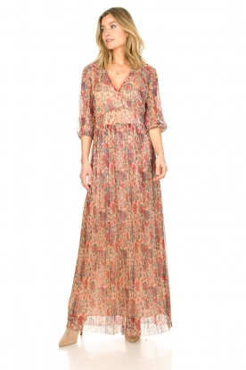 Look Silk maxi dress with lurex Athena