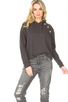 ba&sh | Sweater met strass stenen Bora | zwart