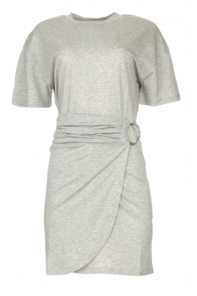 ba&sh | T-shirt dress with waistbelt Erika | grey