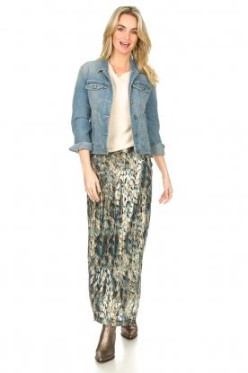 ba&sh |  Maxi skirt with lurex Galina | blue