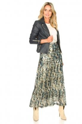 ba&sh    Maxi skirt with lurex Galina   blue