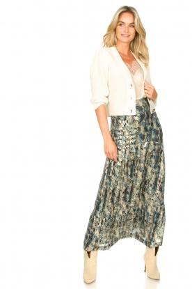 Look Maxi skirt with lurex Galina