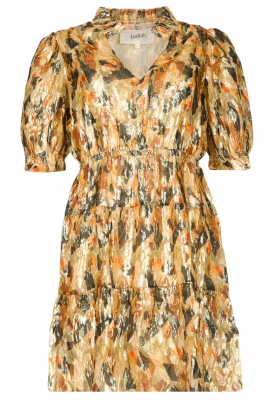 ba&sh | Silk lurex dress with print Gloria | yellow
