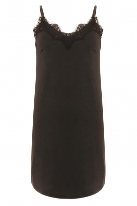 CC Heart |  Slip dress with lace Ivy | black