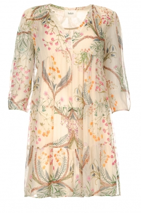 ba&sh | Semi sheer dress with floral print Goya | naturel