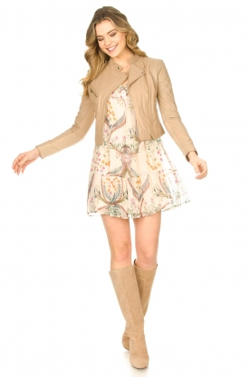 Look Semi sheer dress with floral print Goya