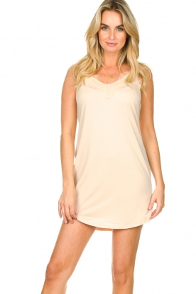CC Heart    Slip dress with lace Ivy   nude
