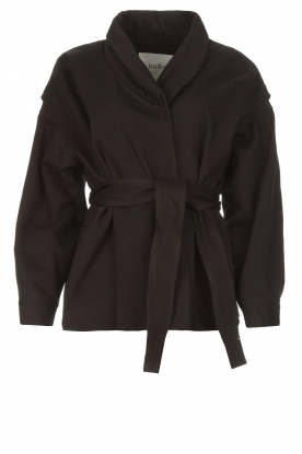 ba&sh | Cotton jacket with waistbelt Lost | black