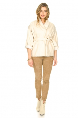 Look Cotton jacket with waistbelt Lost