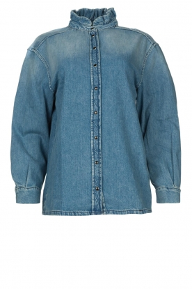 ba&sh | Denim blouse Shine | blue