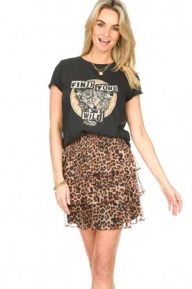 Set |  Cotton T-shirt with print Saba | black