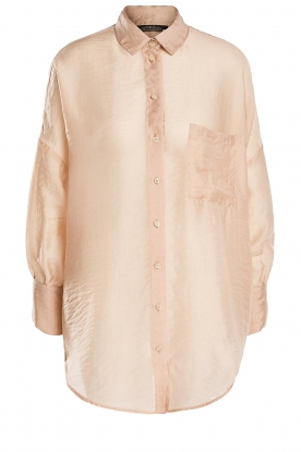 Set |  Oversized blouse Sari | nude