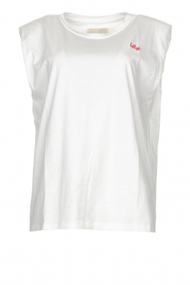 Lolly's Laundry | T-shirt with shoulder pads Alex | white