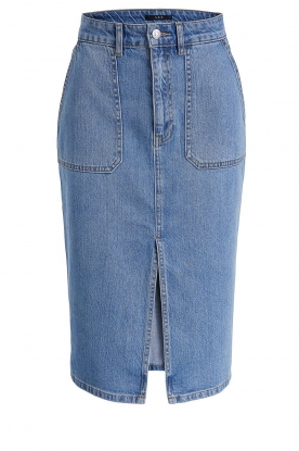 Set |  Denim midi skirt Via | blue