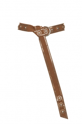 The Kaia |  Knotted belt with studs Dolly | brown