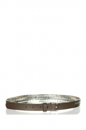 The Kaia |  Belt with silver hardware Doris | black