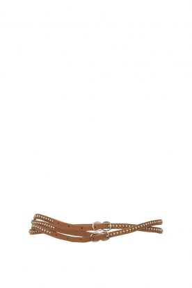 The Kaia | Studded belt Ava | brown