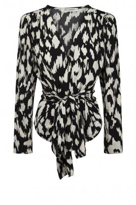 Sofie Schnoor |  Wrap blouse Nieel | black