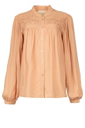Lolly's Laundry |Blouse met plooidetails Cara | roze