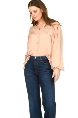 Lolly's Laundry |  Blouse with pleated details Cara | pink
